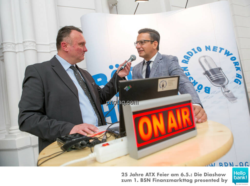 Peter Heinrich, Christian Röhl  für http://www.boersenradio.at, © Martina Draper/photaq (07.05.2016)