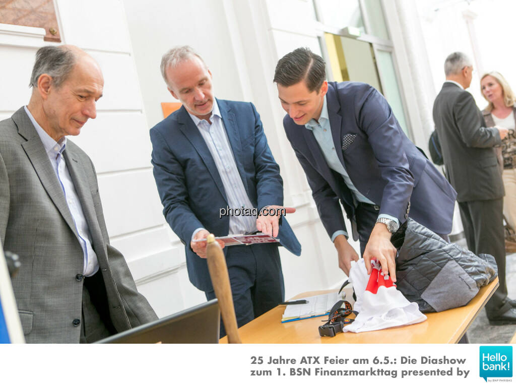 Ludwig Hartweger, Christian Drastil, Dominik Hojas, © Martina Draper/photaq (07.05.2016)