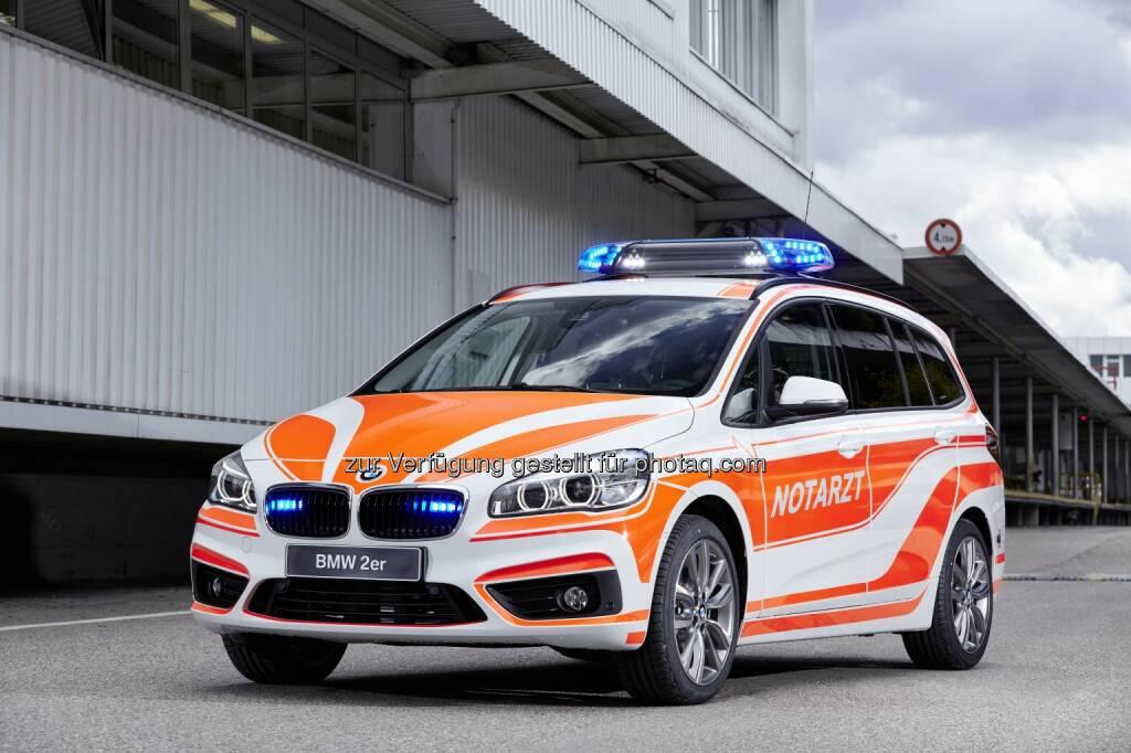 BMW 220d xDrive Gran Tourer als Notarzt-Einsatzfahrzeug : BMW auf der RETTmobil 2016 in Fulda 11. bis 13. Mai 2016 : ©BMW Group (09.05.2016)
