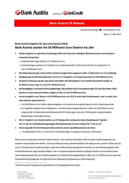 Bank Austria startet mit Gewinn ins Jahr 2016, Seite 1/18, komplettes Dokument unter http://boerse-social.com/static/uploads/file_1034_bank_austria_startet_mit_gewinn_ins_jahr_2016.pdf (11.05.2016)