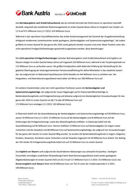 Bank Austria startet mit Gewinn ins Jahr 2016, Seite 3/18, komplettes Dokument unter http://boerse-social.com/static/uploads/file_1034_bank_austria_startet_mit_gewinn_ins_jahr_2016.pdf (11.05.2016)