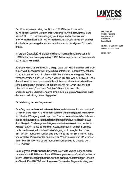LANXESS, Seite 2/4, komplettes Dokument unter http://boerse-social.com/static/uploads/file_1037_lanxess_anhebung_jahresprognose_fur_2016.pdf (11.05.2016)