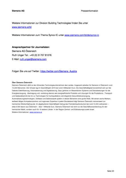 Siemens: Synco IC bringt Gebäudeautomation in die Cloud, Seite 3/3, komplettes Dokument unter http://boerse-social.com/static/uploads/file_1039_siemens_synco_ic_bringt_gebaudeautomation_in_die_cloud.pdf (11.05.2016)