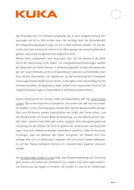 KUKA auf der ICRA in Stockholm, Seite 2/3, komplettes Dokument unter http://boerse-social.com/static/uploads/file_1040_kuka_auf_der_icra_in_stockholm.pdf (11.05.2016)