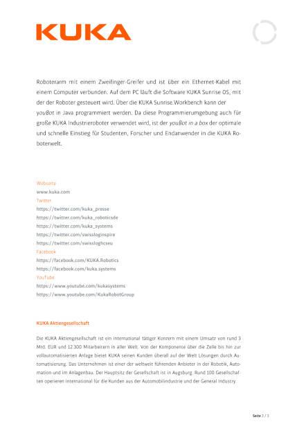 KUKA auf der ICRA in Stockholm, Seite 3/3, komplettes Dokument unter http://boerse-social.com/static/uploads/file_1040_kuka_auf_der_icra_in_stockholm.pdf (11.05.2016)