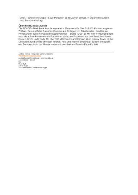 ING-DiBa Umfrage: Sparbuch: Jeder Vierte am Absprung, Seite 2/2, komplettes Dokument unter http://boerse-social.com/static/uploads/file_1042_ing-diba_umfrage_sparbuch_jeder_vierte_am_absprung.pdf (11.05.2016)