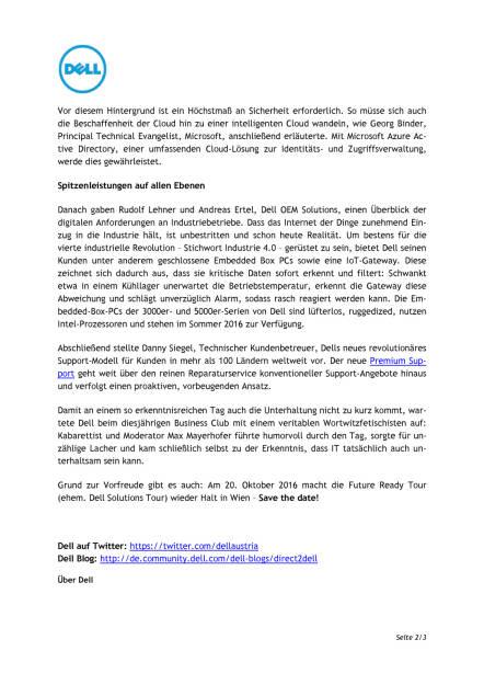 Dell Business Club 2016: Future, Fetisch und ein prähistorisches Schwergewicht , Seite 2/3, komplettes Dokument unter http://boerse-social.com/static/uploads/file_1043_dell_business_club_2016_future_fetisch_und_ein_prahistorisches_schwer-gewicht.pdf (11.05.2016)