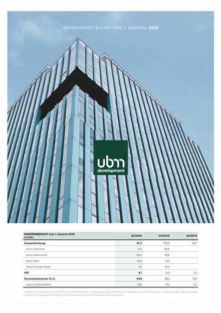 UBM Q1 2016, Seite 1/5, komplettes Dokument unter http://boerse-social.com/static/uploads/file_1048_ubm_q1_2016.pdf (12.05.2016)
