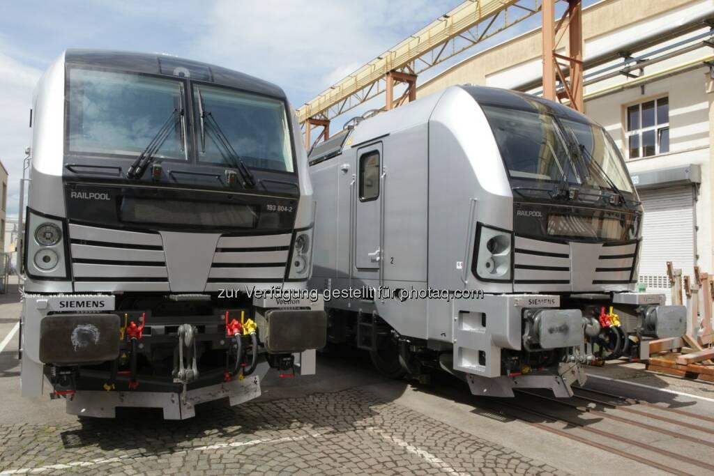 Lokomotiven vom Typ Vectron AC : Railpool bestellt bei Siemens weitere fünf Vectron-Lokomotiven : © Siemens AG, © Aussendung (12.05.2016)