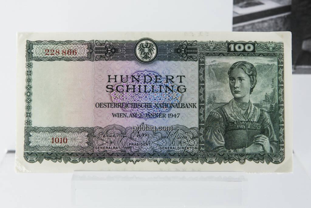 100-Schilling-Note aus dem Jahr 1947, © finanzmarktfoto.at/Martina Draper (15.04.2013)