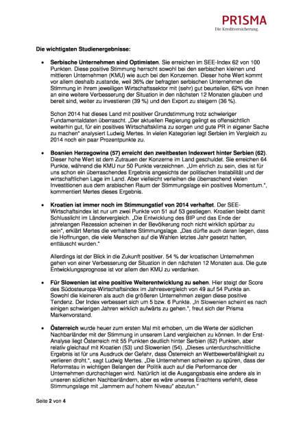 Prisma Die Kreditversicherung.: Südosteuropa-Wirtschaftsindex, Seite 2/4, komplettes Dokument unter http://boerse-social.com/static/uploads/file_1064_prisma_die_kreditversicherung_sudosteuropa-wirtschaftsindex.pdf (17.05.2016)