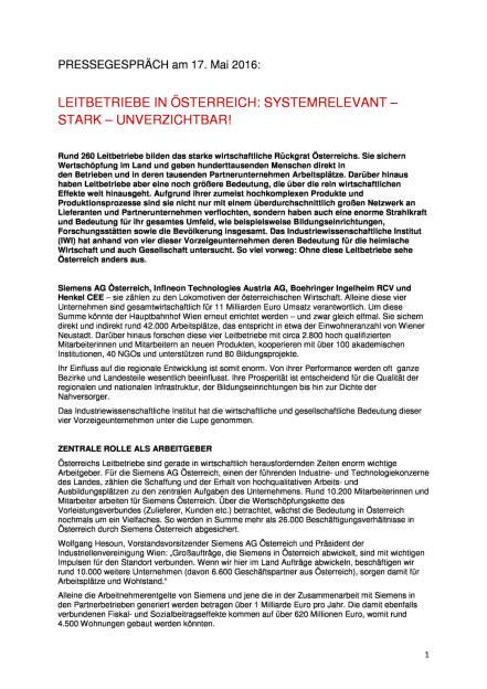 Industriellenvereinigung: Leitbetriebe in Österreich, Seite 1/3, komplettes Dokument unter http://boerse-social.com/static/uploads/file_1066_industriellenvereinigung_leitbetriebe_in_osterreich.pdf (17.05.2016)