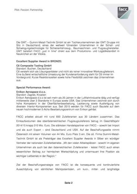 """FACC zeichnet die besten Lieferanten mit """"Supplier Awards"""" aus, Seite 2/6, komplettes Dokument unter http://boerse-social.com/static/uploads/file_1065_facc_zeichnet_die_besten_lieferanten_mit_supplier_awards_aus.pdf (17.05.2016)"""