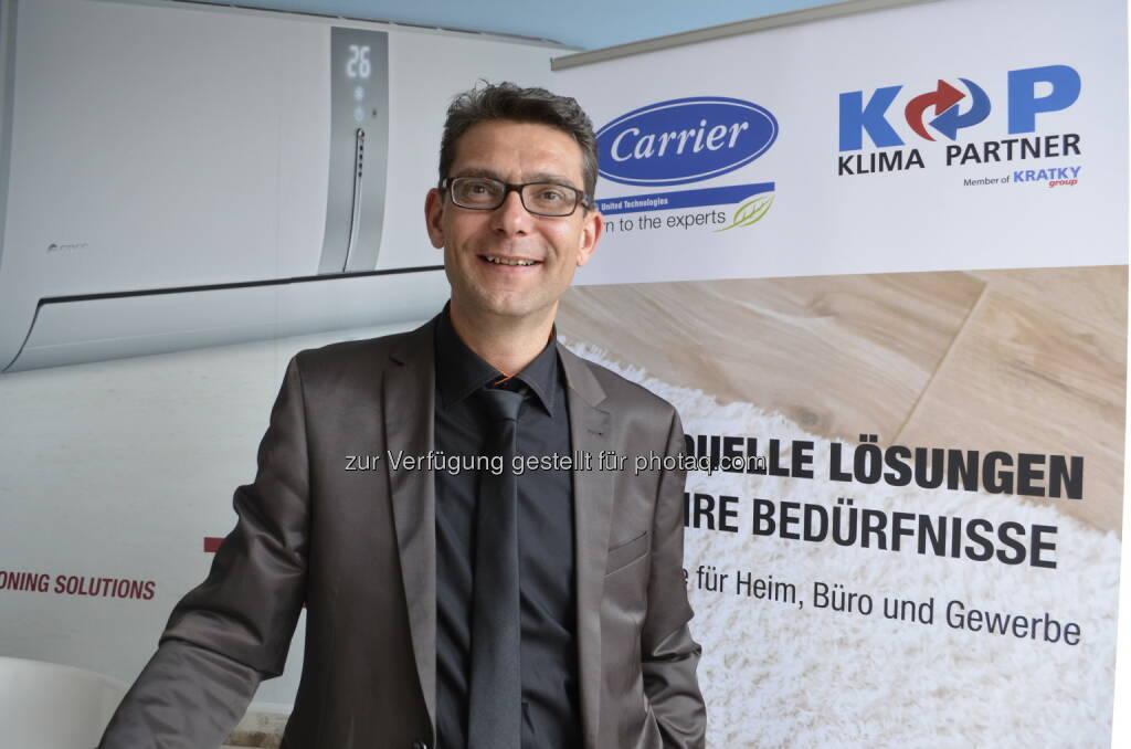 Harald Kratky (GF Kratky Kältetechnik GmbH) : AHI Carrier Klimageräte neu bei Kratky Kältetechnik : Fotocredit: Kratky Kältetechnik GmbH, © Aussendung (24.05.2016)