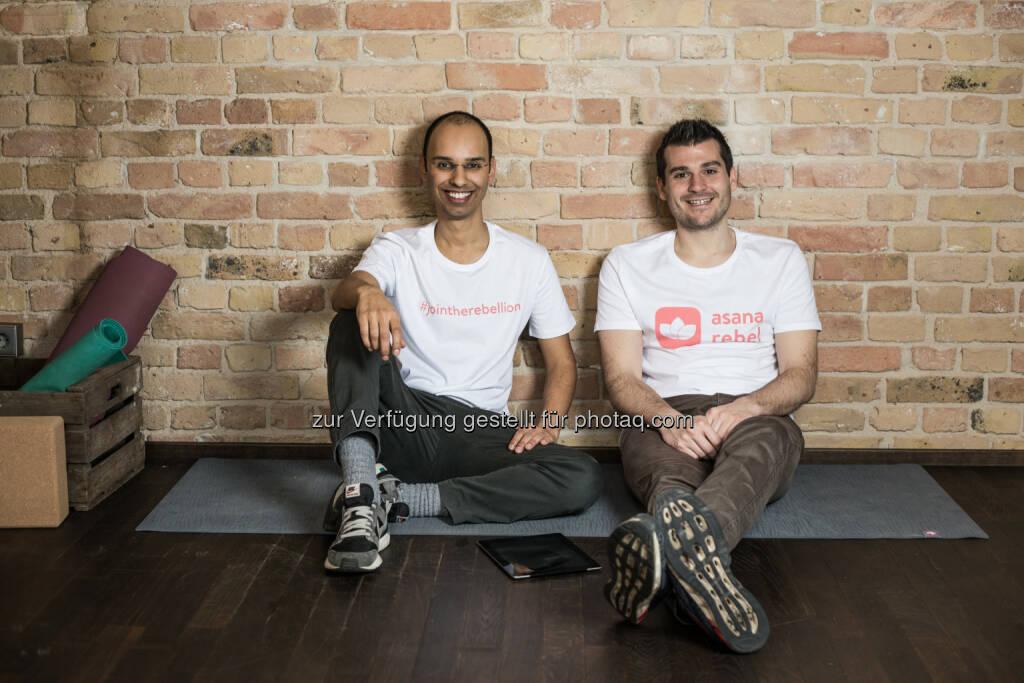 Robin Pratap und Pascal Klein (Gründer von Asana Rebel) : Asana Rebel – die Yoga-App für das moderne Leben : Fotocredit: Asana Rebel, © Aussender (25.05.2016)