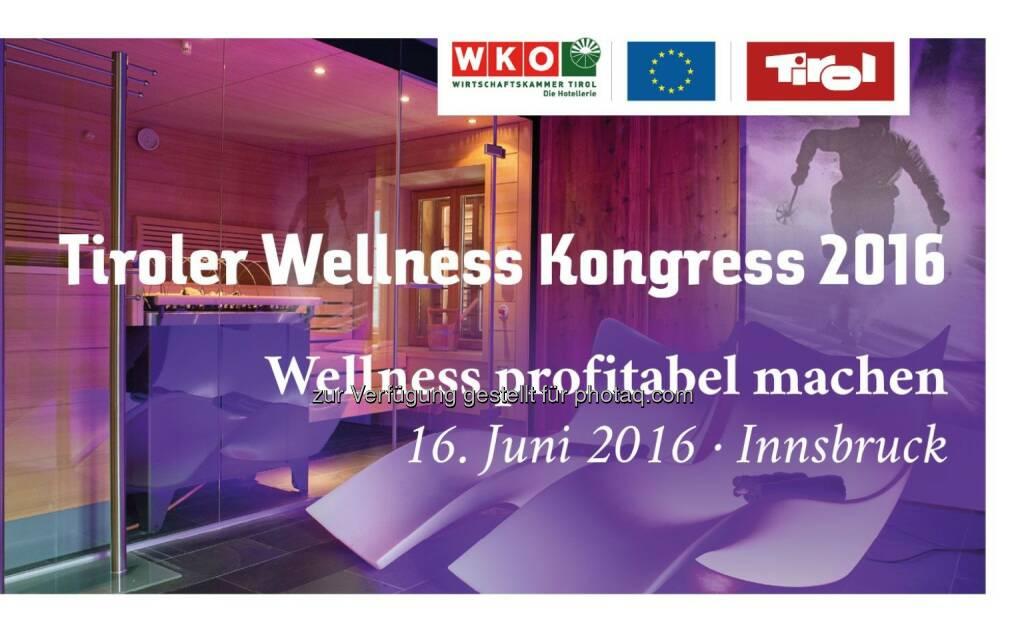 Tiroler Wellness Kongress : Wellness profitabel machen : Zukunftsmarkt vs. Etikettenschwindel : Fotocredit: Standortagentur Tirol (30.05.2016)