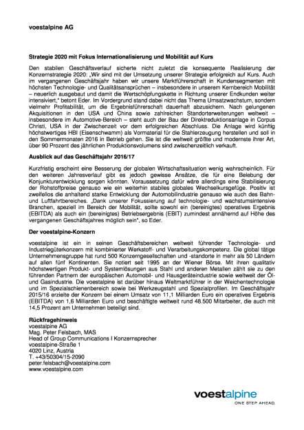 voestalpine trotzt negativem Umfeld, Seite 3/3, komplettes Dokument unter http://boerse-social.com/static/uploads/file_1155_voestalpine_trotzt_negativem_umfeld.pdf (02.06.2016)