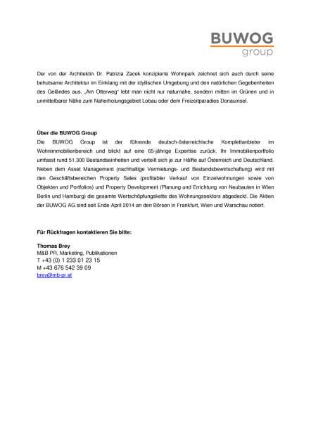 "Buwog Group: Teilfertigstellung Wohnpark ""Am Otterweg"", Seite 2/2, komplettes Dokument unter http://boerse-social.com/static/uploads/file_1158_buwog_group_teilfertigstellung_wohnpark_am_otterweg.pdf (02.06.2016)"