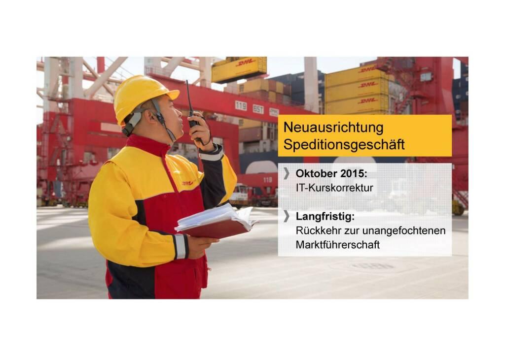 Deutsche Post - Neuausrichtung Speditionsgeschäft (02.06.2016)