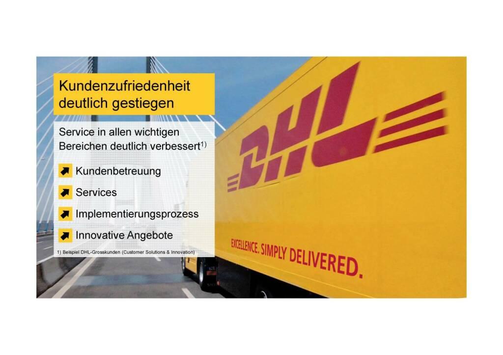 Deutsche Post - Kundenzufriedenheit gestiegen (02.06.2016)