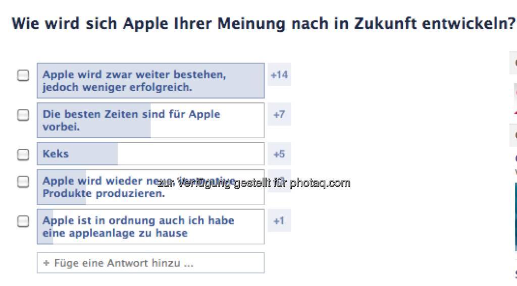 Wie wird sich Apple entwickeln? Das fragt direktanlage.at via Facebook  https://www.facebook.com/direktanlage.at (17.04.2013)