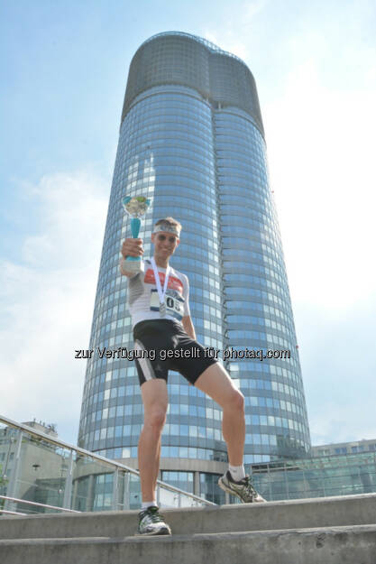 Rolf Majcen: Platz 2 beim Millenium Tower Run Up light , © Aussendung (04.06.2016)
