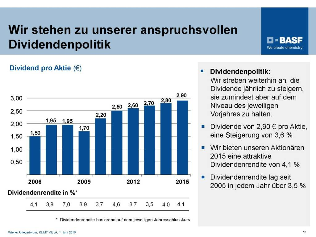 BASF - Dividendenpolitik (06.06.2016)