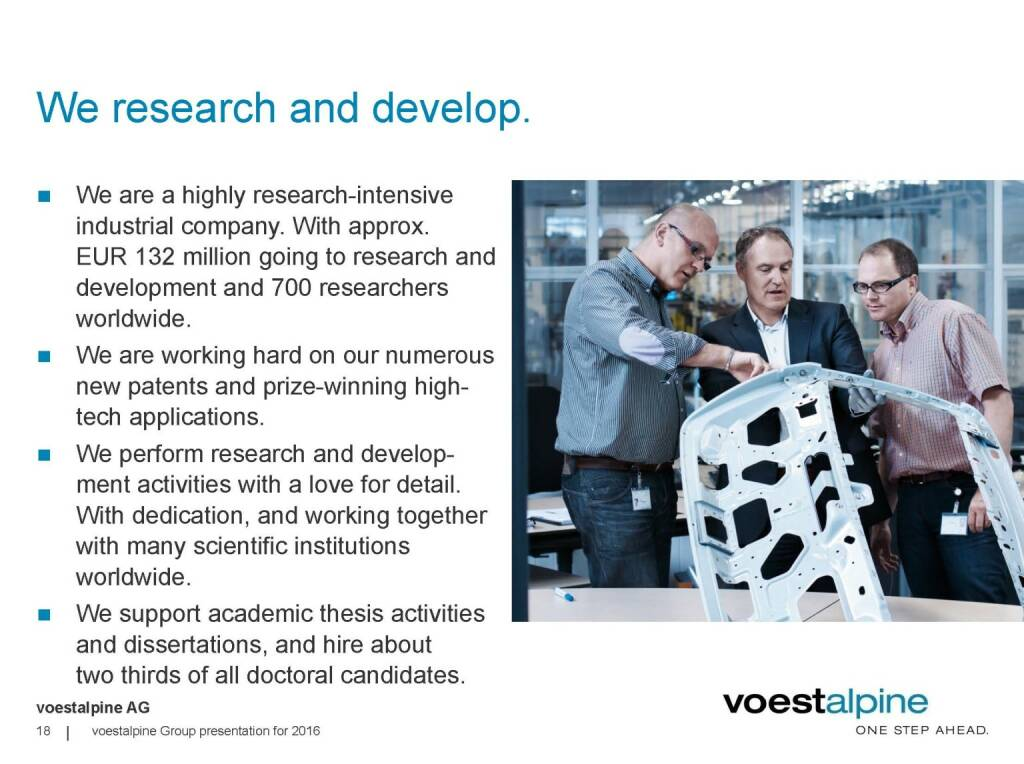 voestalpine - We research and develop (06.06.2016)