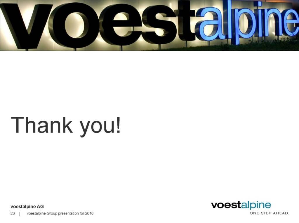 voestalpine - Thank you (06.06.2016)