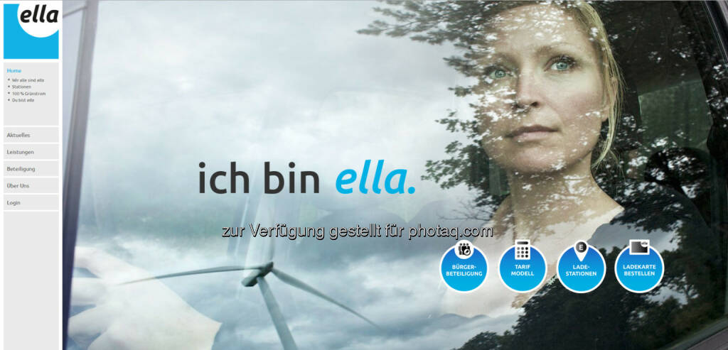 ella Homepage : ella launcht neues Kundenportal : Fotocredit: ella AG, © Aussendung (09.06.2016)