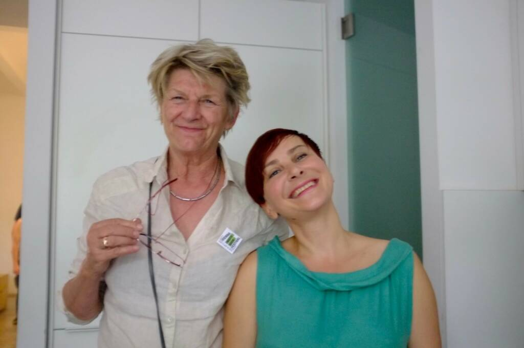 Corinne Noordenbos (former head of the photography class at the Royal Academy of Art in The Hague), Eugenia Maximova (photo: Josef Chladek) (13.06.2016)