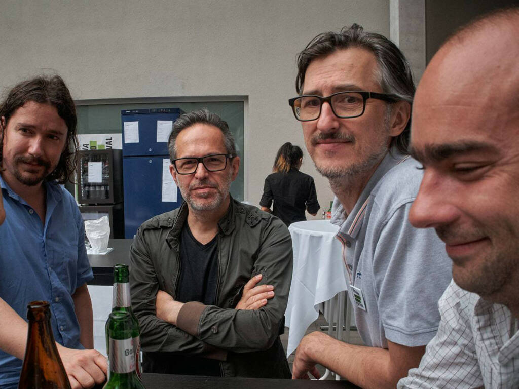 Clement Kauter, Andreas H. Bitesnich, Josef Chladek, Thomas Sauvin (photo: Helfried Valenta) (13.06.2016)