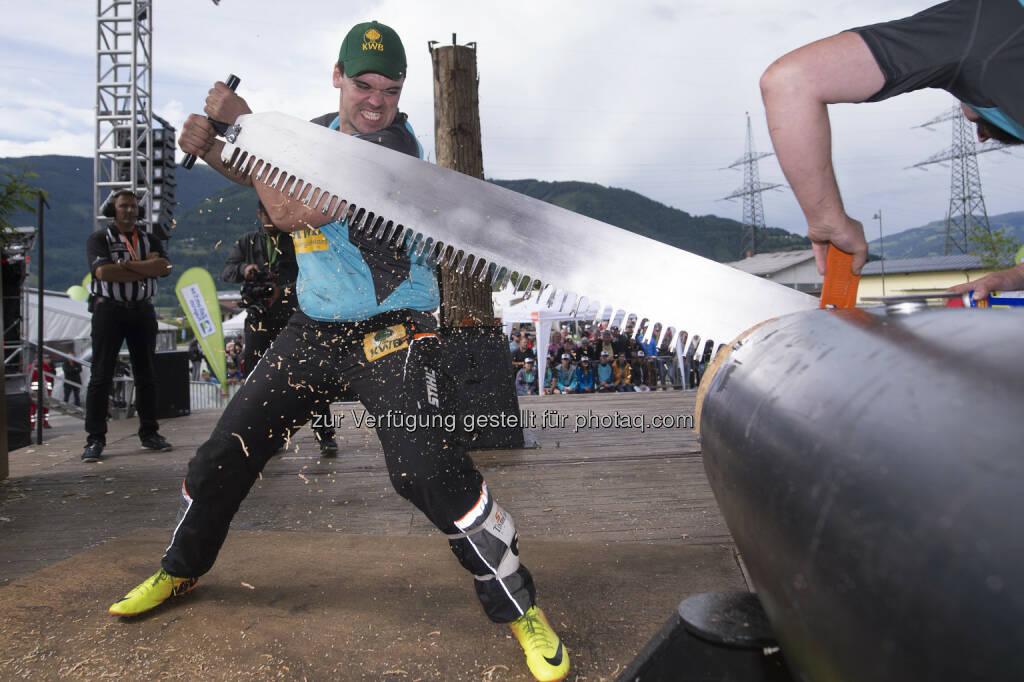 Armin Kugler (Österreichischer Meister im Sportholzfällen) : Staatsmeisterschaft der Stihl Timbersports® Series : Fotocredit: Limex Images/Andreas Schaad/Stihl, © Aussendung (22.06.2016)