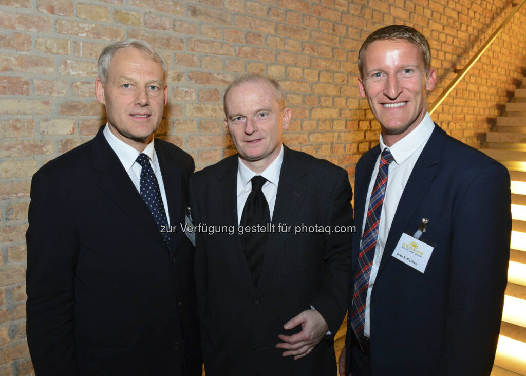 Charles van Erp, Peter Thirring und Sven Rischko (c) Harald Artner / APA OTS (18.04.2013)