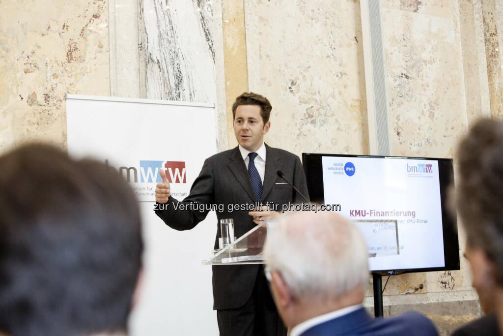 Staatssekretär Harald Mahrer, © Michèle Pauty (01.07.2016)
