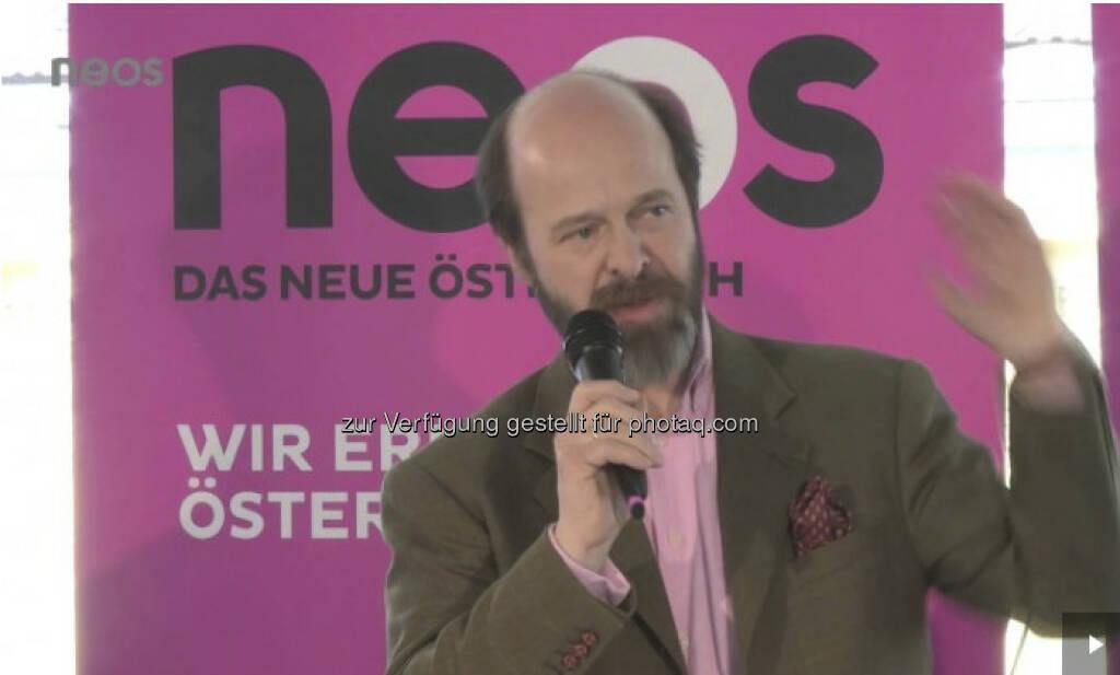 Tibor Pásztory: Der Börsen-Kurier-Redakteur bei den Neos (c) Neos (19.04.2013)