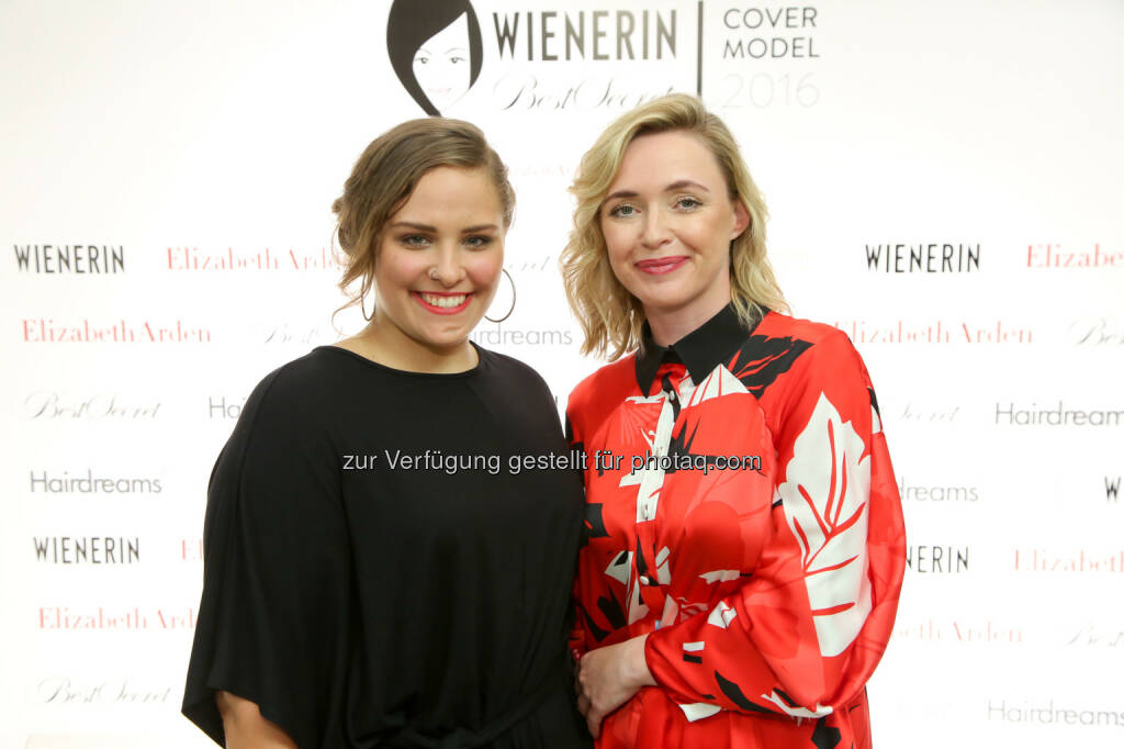 Nina Legat (Gewinnerin), Barbara Haas (Chefredakteurin Wienerin) : Nina Legat gewinnt das Finale des Wienerin Covermodel Contests presented by BestSecret : Fotocredit: wienerin/Schiffl, © Aussendung (01.07.2016)
