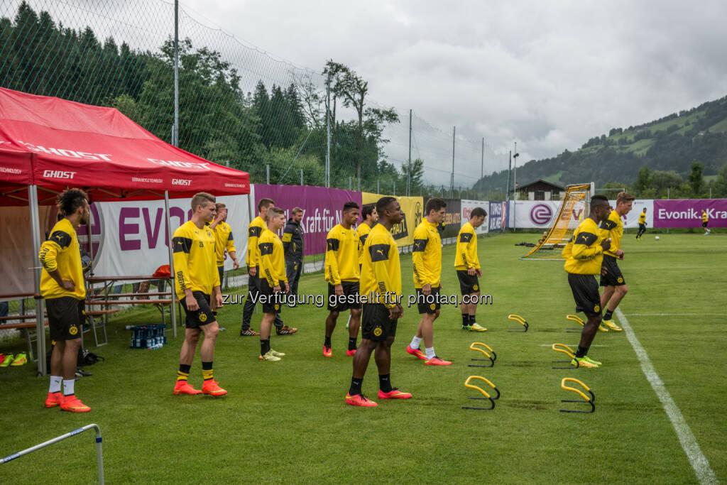 Team Borussia Dortmund : Sommertrainingslager des BVB im Brixental : Fotocredit: Tourismusverband Kitzbüheler Alpen – Brixental/Tropper, © Aussendung (05.07.2016)