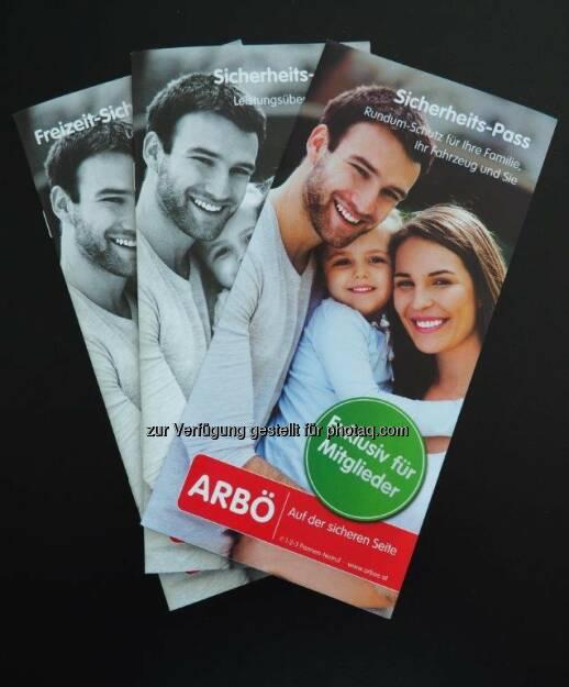 ARBÖ Sicherheits-Pass-Folder : Versicherungsleistungen für Mitglieder für den Urlaub : Fotocredit: ARBÖ, © Aussender (05.07.2016)