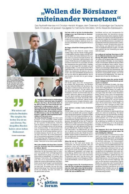 """Fachheft 45-46 - """"Wollen die Börsianer miteinander vernetzen"""" (Christian-Hendrik Knappe) (05.07.2016)"""