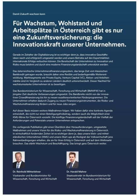Für Wachstum, Wohlstand und Arbeitsplätze in Österreich gibt es nur eine Zukunftsversicherung: die Innovationskraft unserer Unternehmen. (05.07.2016)