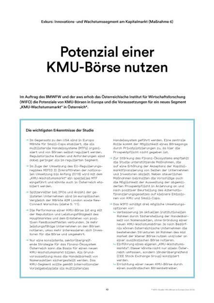Potenzial einer KMU-Börse nutzen (05.07.2016)