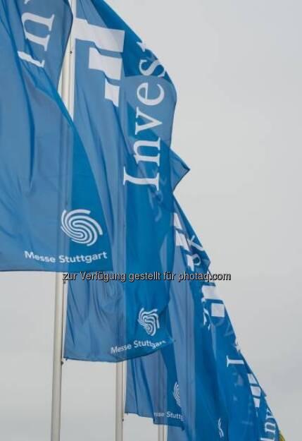 Fahnen, Invest 2013 in Stuttgart - http://www.messe-stuttgart.de/invest/ (19.04.2013)