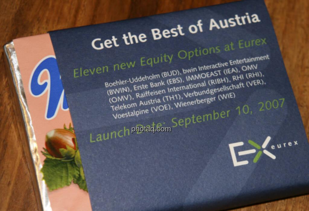 Manner, Get the Best of Austria, Eurex (21.04.2013)