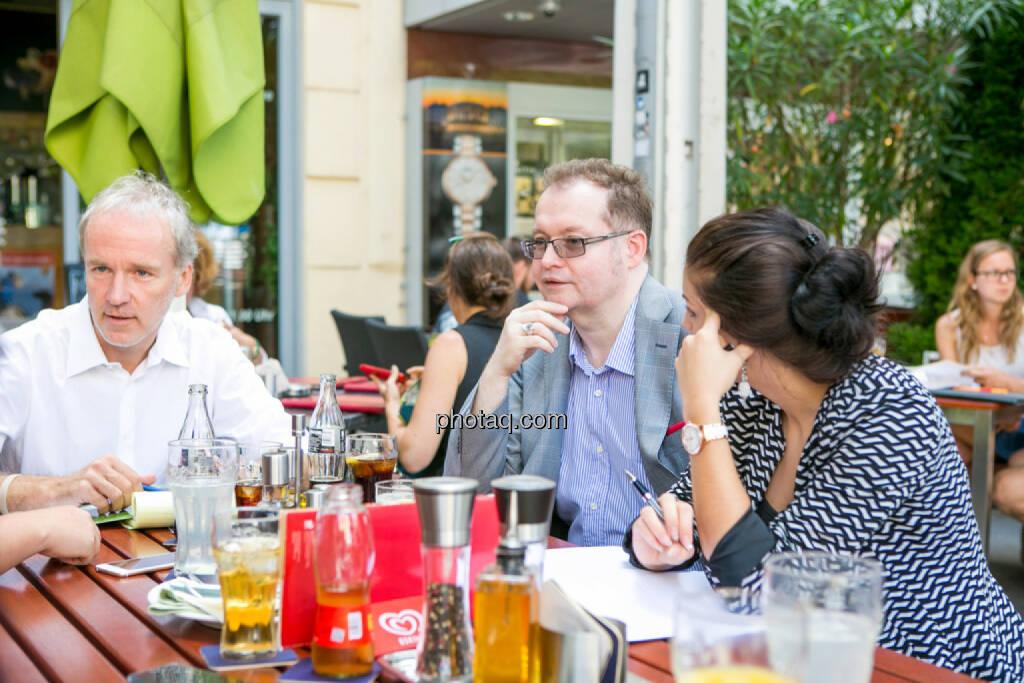 Christian Drastil (BSN), Gregor Rosinger (Rosinger Group), Alexandra Rosinger (Rosinger Group), © Martina Draper/photaq (19.07.2016)