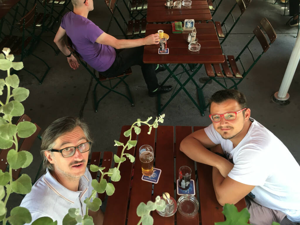 Josef Chladek mit dem künftigen BSN-Kollegen Michael Plos (20.07.2016)