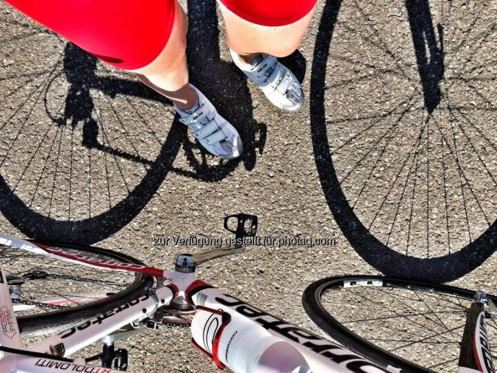 Beine und Bike