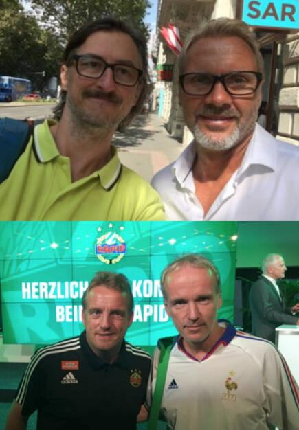 Josef Chladek, Thorsten Fink, Mike Büskens, Christian Drastil (23.07.2016)