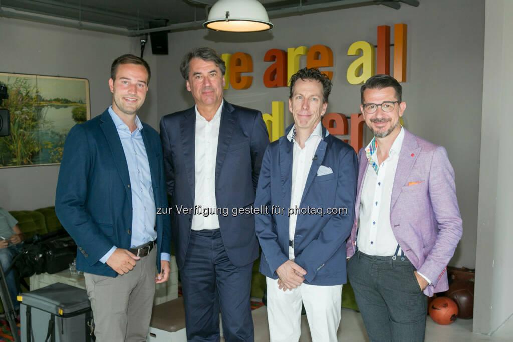 Stefan Schnöll, Stefan Pierer (CEO KTM Industries), Philip Rusch, Roman Sindelar, © Martina Draper (27.07.2016)