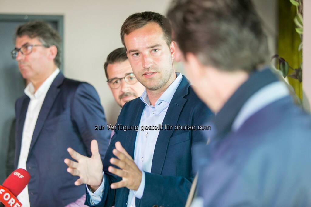 Stefan Pierer (CEO KTM Industries), Roman Sindelar, Stefan Schnöll, Philip Rusch, © Martina Draper (27.07.2016)